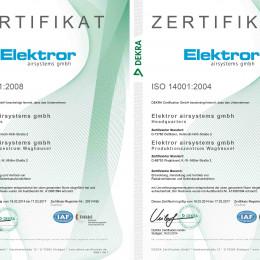 ISO 9001 und 14001 erneut mit Bravour bestanden