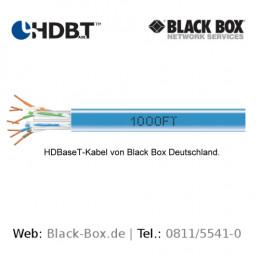HDBaseT-Kabel von Black Box mit offizieller Empfehlung der HDBaseT-Alliance