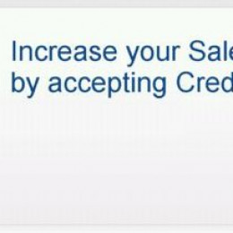 Boost sales by accepting credit card payments