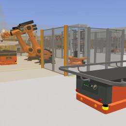 Virtuelle Fabrik und Logistikplanung:
