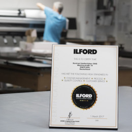 »ILFORD Certified Print Partners«