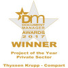"""Compart und Thyssenkrupp Steel Europe sind """"Project of the Year 2017"""""""