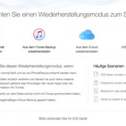 iMobie PhoneRescue stellt Ihr iPhone X/8 mit 3 Methoden wieder her