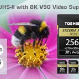 Toshiba Memory Europe kündigt mit der N502 UHS-II EXCERIA PRO neue SD-Karten mit 270MB/s an