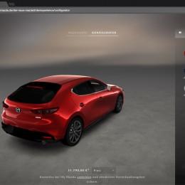 Der neue Mazda3: Demodern realisiert 3D-Autokonfigurator in WebGL