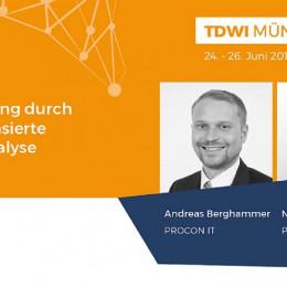 PROCON IT hält Vortrag auf der TDWI Konferenz über den Nutzen von Big Data Analytics