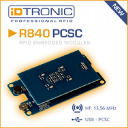 iDTRONICs Embedded HF RFID Reader Serie R840: All-in-One RFID OEM Lösung [NEUER PC/SC READER]