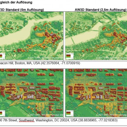 NTT DATA und RESTEC launchen AW3D Full Global 3D Map mit 2,5 Meter Auflösung