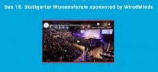 WiredMinds ist Sponsor des Stuttgarter Wissensforums am 18.10.2019 und verlost 5 x 2 Premium-Tickets