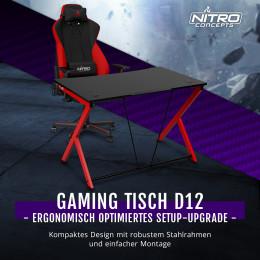 BRANDNEU bei Caseking – Der ergonomische Nitro Concepts D12 Gaming-Tisch.