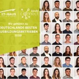 Auszeichnung Deutschlands bester Ausbildungsbetriebe 2020: Wiederholt gehört die IT-HAUS GmbH zu den Top-Ausbildungsstätten