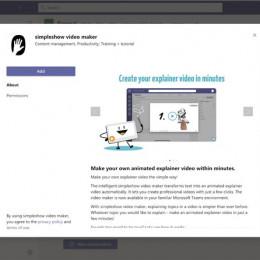 simpleshow video maker ermöglicht Erstellung animierter Erklärvideos direkt in Microsoft Teams (FOTO)