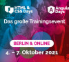 Die großen Trainingsevents für JavaScript, Angular, React und HTML & CSS im Oktober in Berlin und online