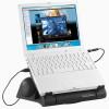 Xystec 5in1: Notebook-Sound-&Workstation, Netzteil, Drehteller, Hub