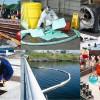 Bindemittel und Bindevliese zum Beseitigen vonÖl, Chemikalien und sonstigen Flüssigkeiten