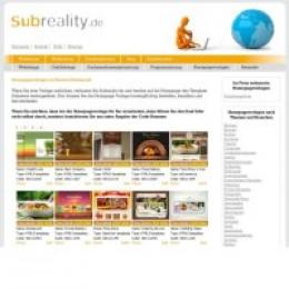 Subreality.de bietet hunderte professionelle Homepagevorlagen