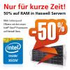 50 Prozent Rabatt auf Speichermodule in Server Systemen